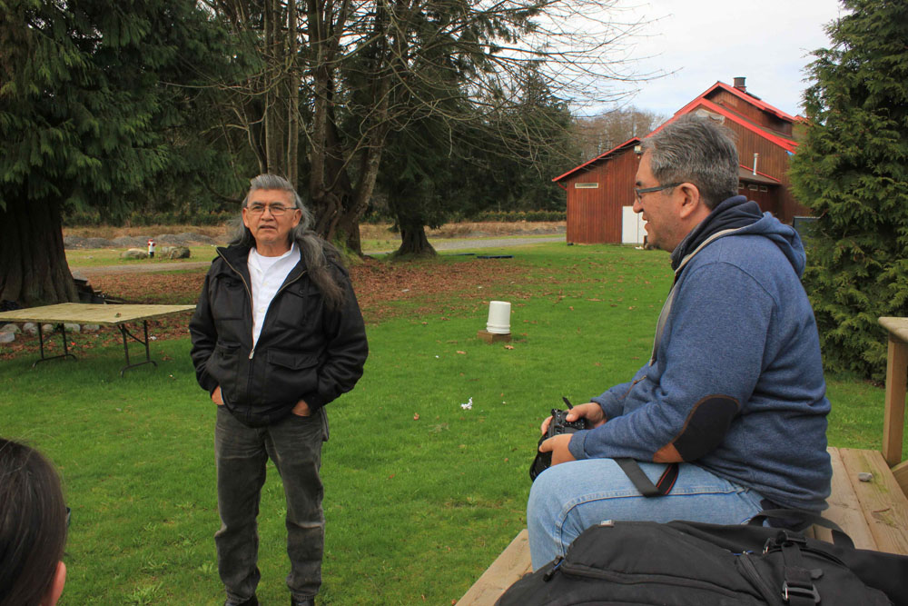 Wawmeesh Hamilton interviews the pastor of the Indian Shaker Church in Squamish