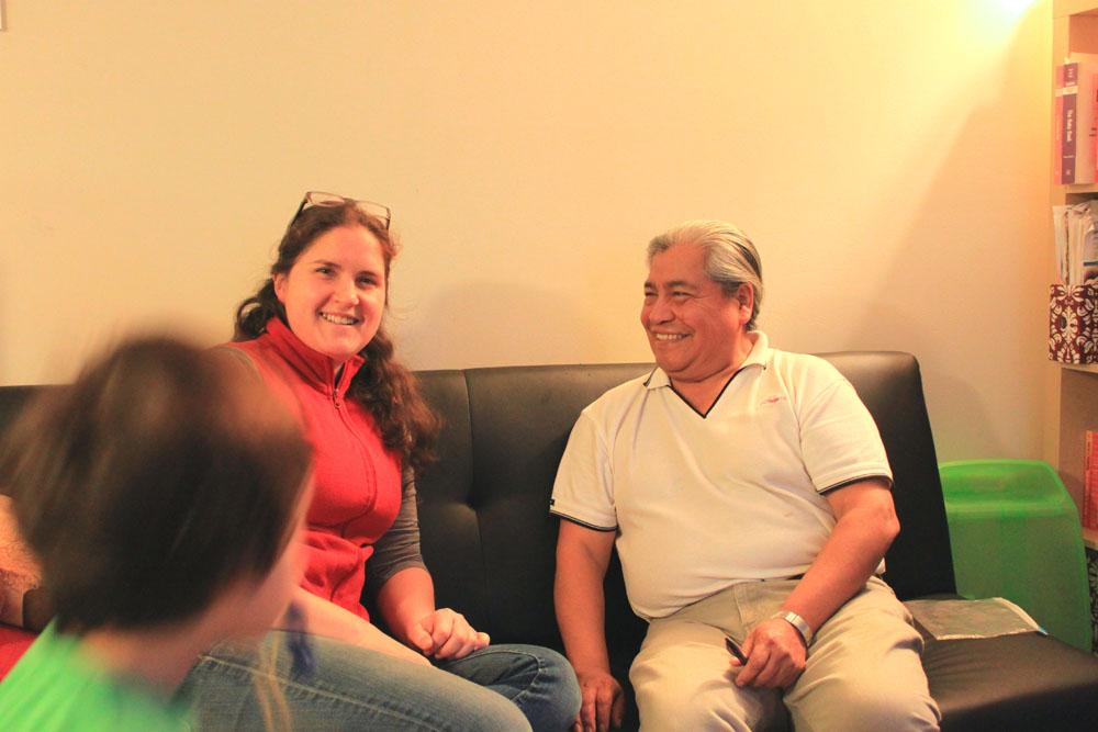 Meylin Zink Yi after an interview